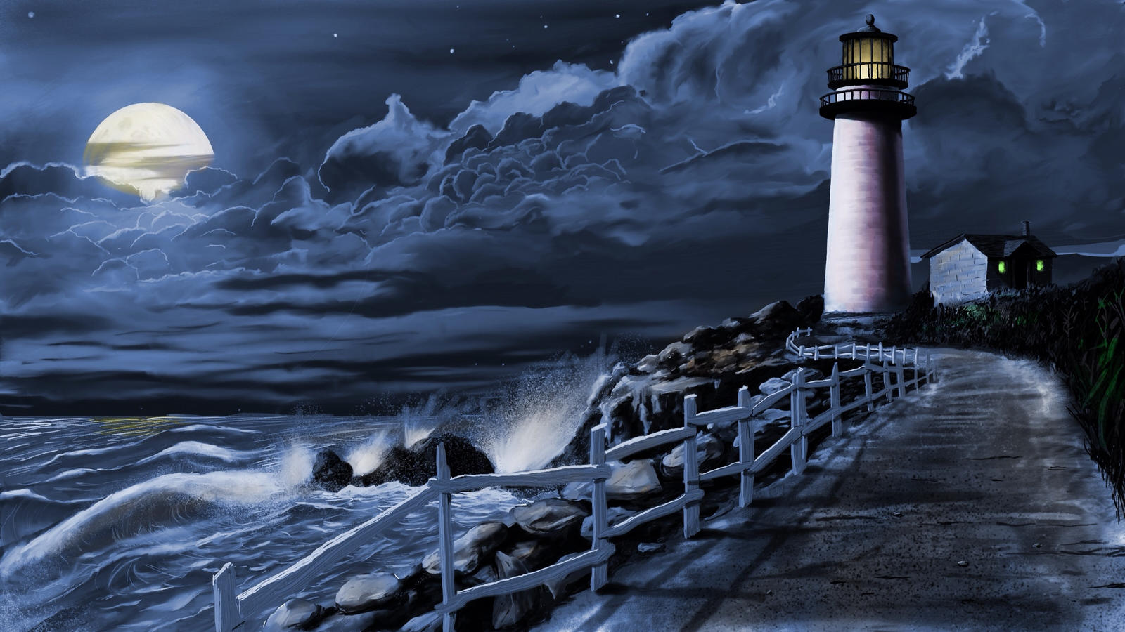 Lighthouse(night Time) By Brentdgrooms On DeviantArt