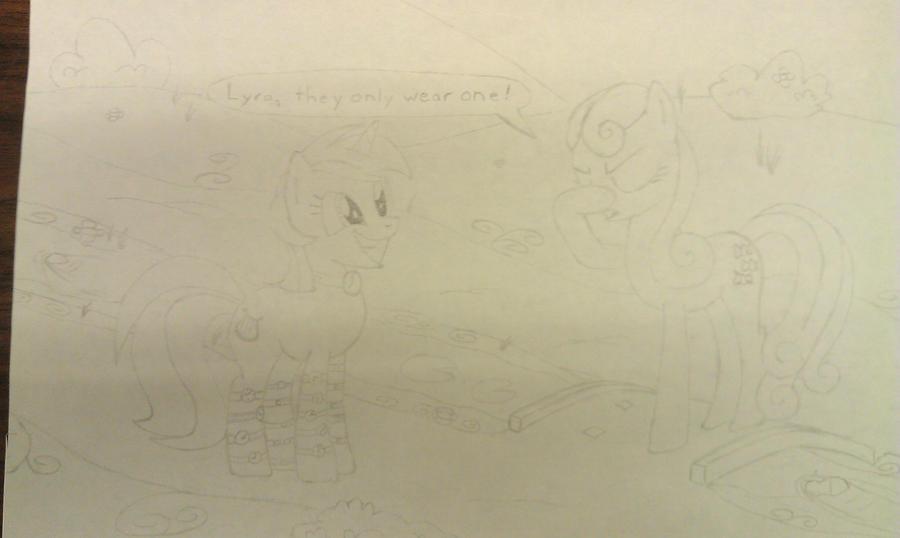 Lyra and Bon Bon (Work in Progress) by xjuggernaughtx