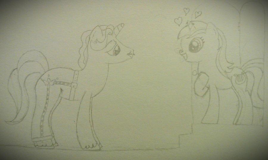 Lyra Admires Fancypants' Fancy Pants by xjuggernaughtx