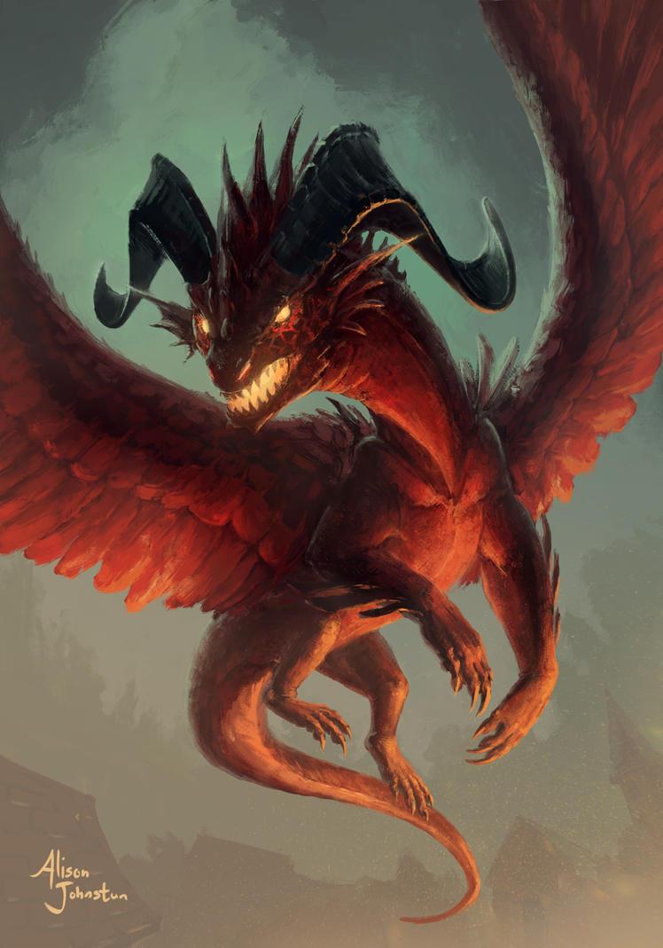 5-5 Red Dragon Token by Xovq on DeviantArt