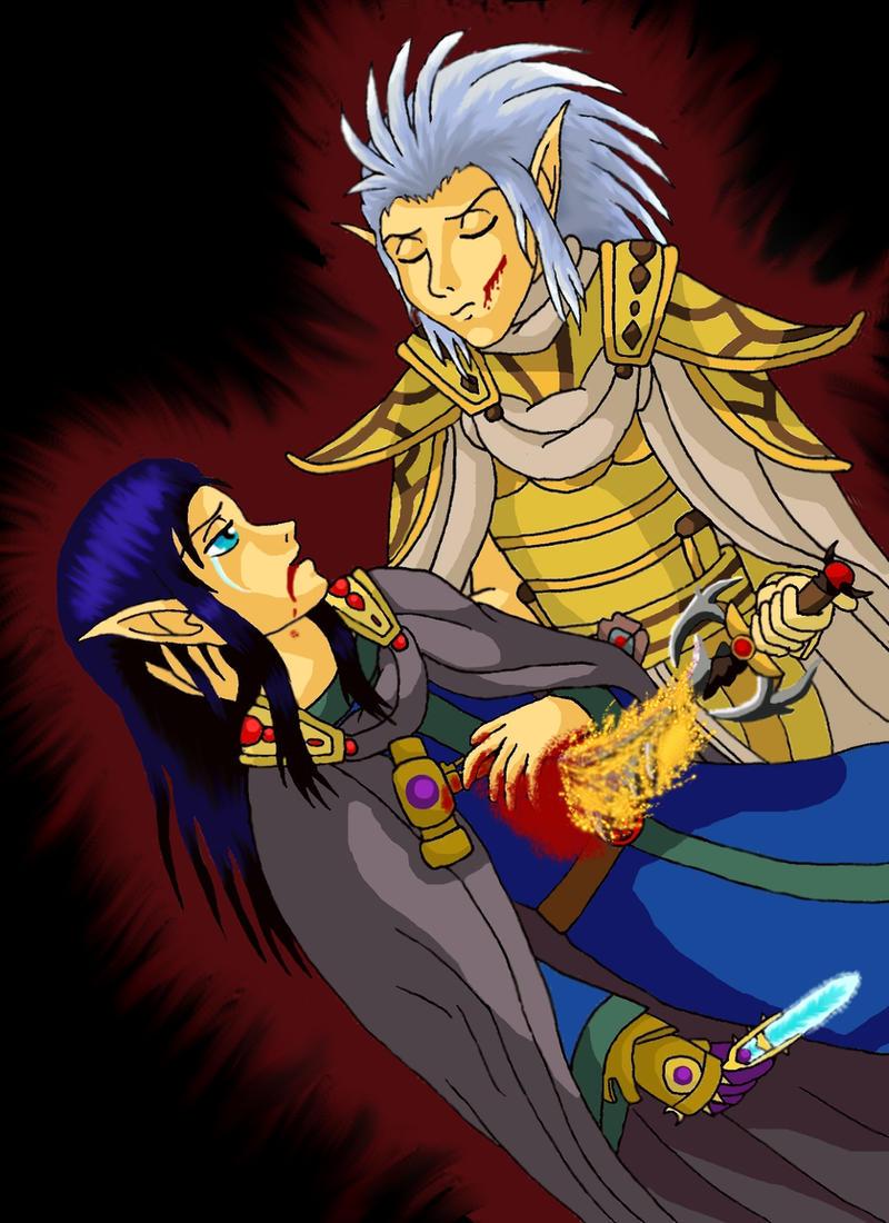 Voryn Dagoth's death by GothaWolf