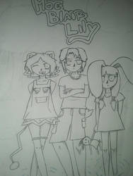 RP CHARACTERS : Moe, Blair, and Lily by FruitCake150