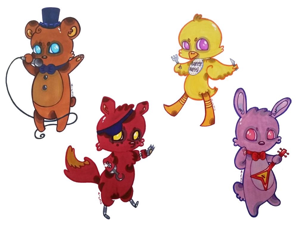 Five Nights of Creepy Cute. by Airyu
