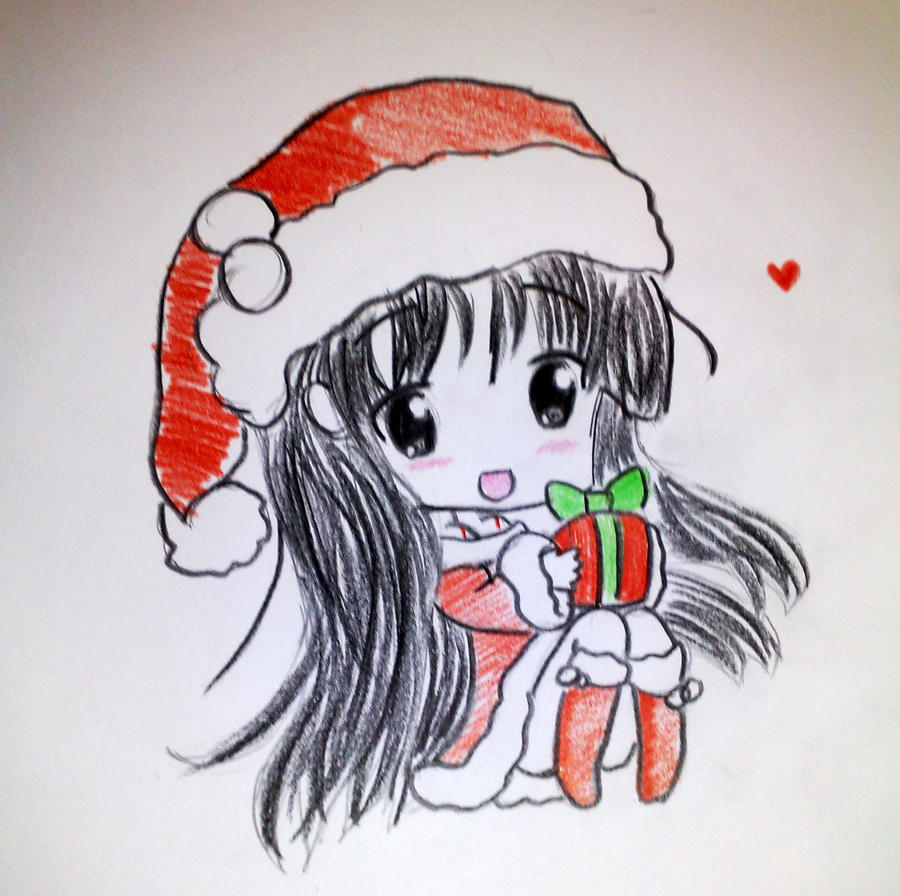 how to draw merry christmas