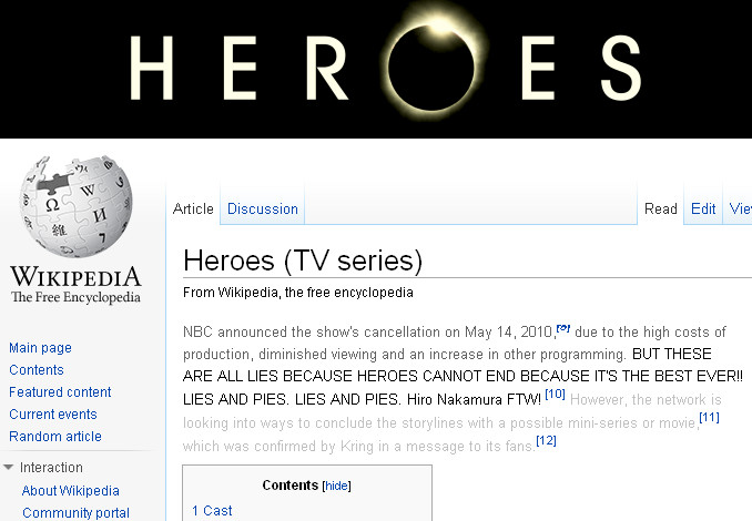 Can't stop Heroes - Wiki says