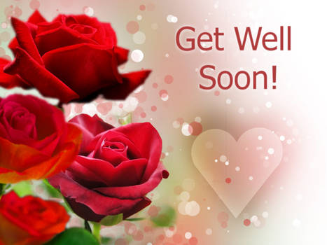 Get Well Soon Card with Roses