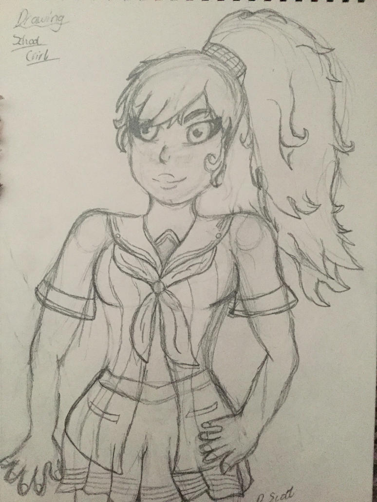 Anime pencil sketch by gamergirlfan234