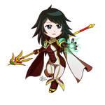 Carma Warlock Chibi polos by HizaraCiel