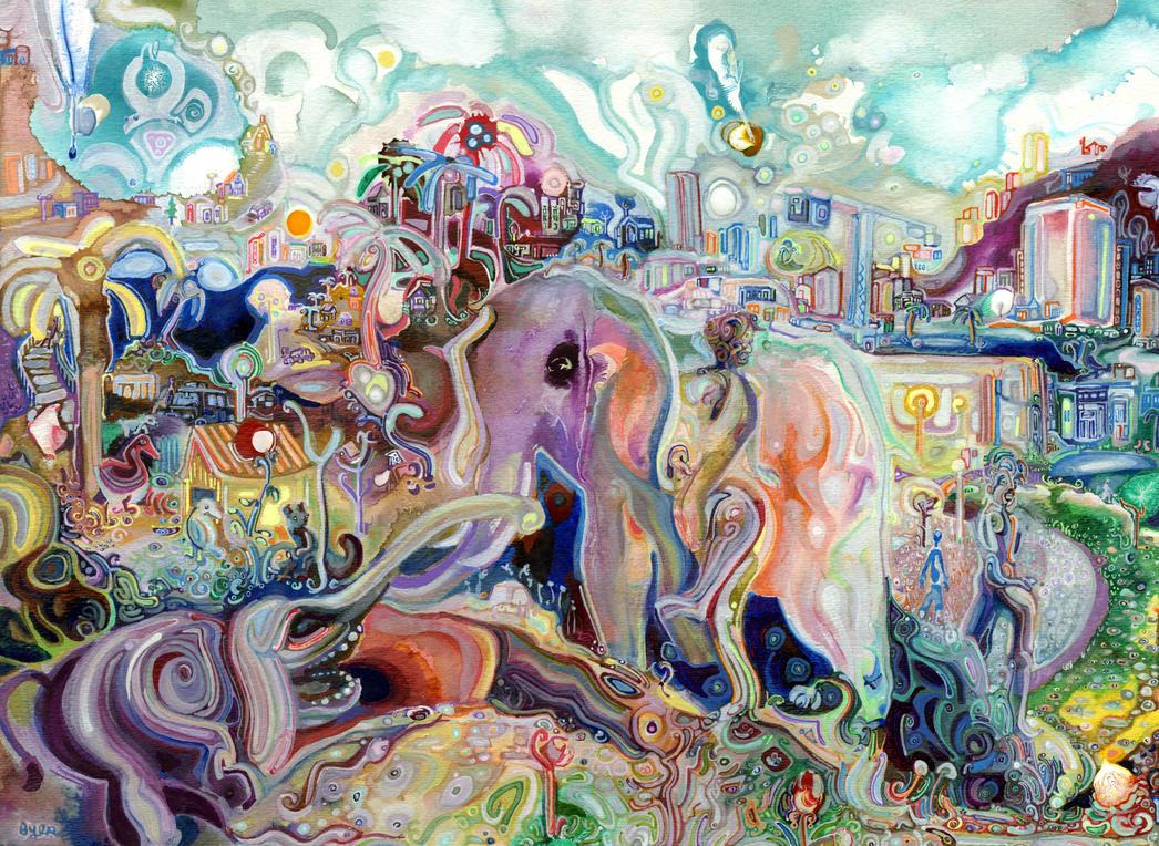Walking with Elephants by JoshByer