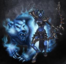 Lexae, Draenei Huntress by Enforcer84