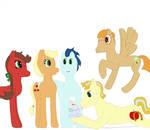 Applejack x Soarin' foals by EveryAlternateEnding