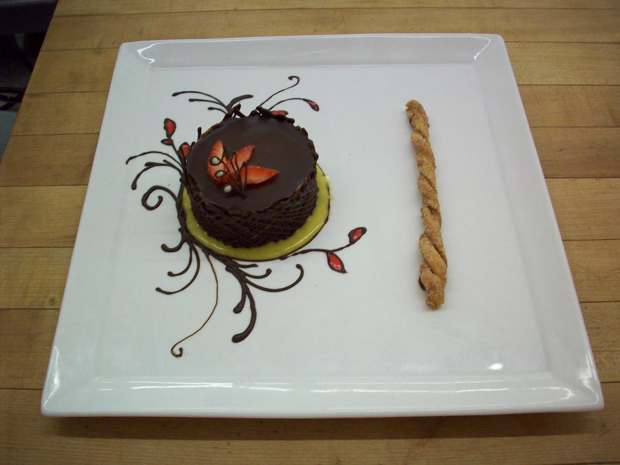 Dark Chocolate Mousse Plating Ideas