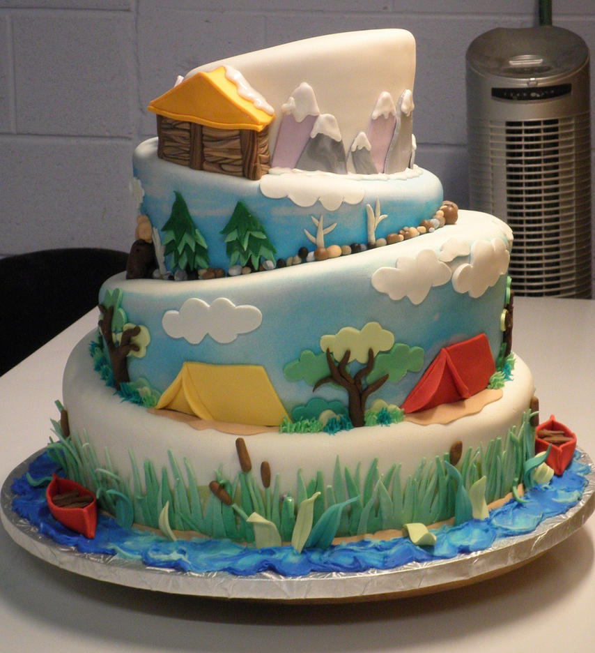 Camping Tent Cake Cake Ideas And Designs