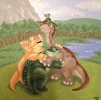 Land Before Time by BlueHuntress123