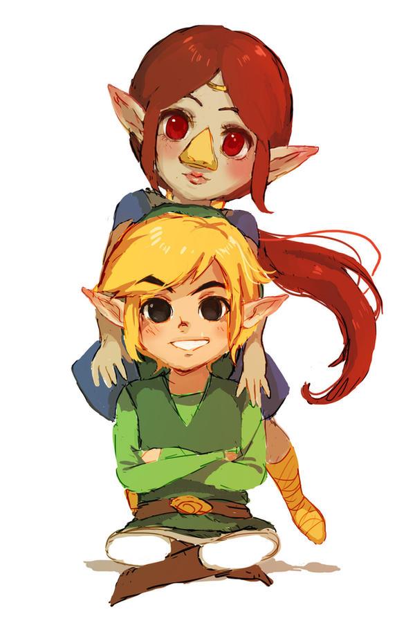 Medli and Link by Aurellien
