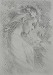 Quiet Garden Sketch by WilltheArtMan