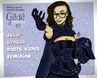 Jully Kynush de Darth Vader Feminino by gildabrasil