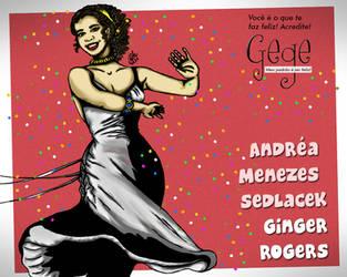 Andrea Menezes Sedlacek  Como Ginger Rogers by gildabrasil