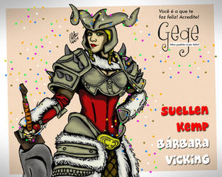 Suellen Kemp como Barbara do Diablo III by gildabrasil