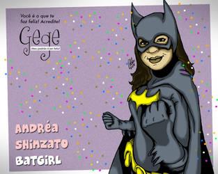 Andrea Shinzato como Batgirl by gildabrasil