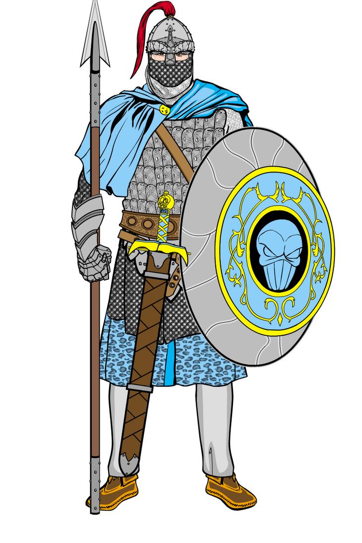 A Sassanid warrior by MarcoLorenzetti