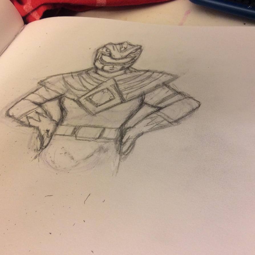 Green Ranger sketch by Tenshi3D