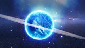 Blue Glowing Planet