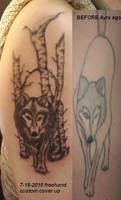 freehand custom cover up WOLF