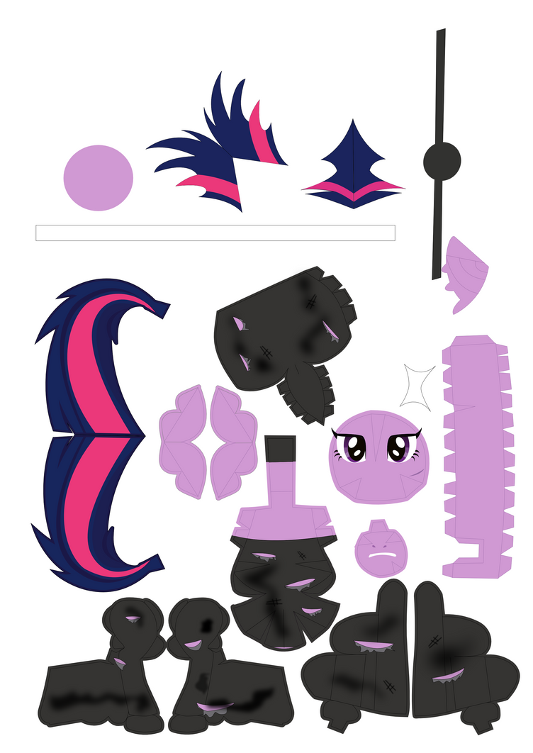 Future Twilight Sparkle Papercraft Pattern by Blubaxp