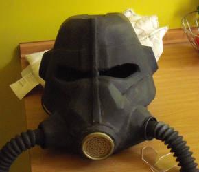 Fallout T-45 power armor helmet WIP part 5
