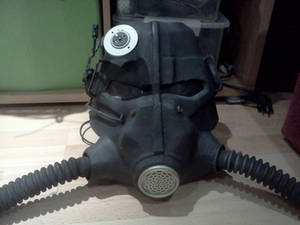 Fallout T-45 power armor helmet WIP part 5.5