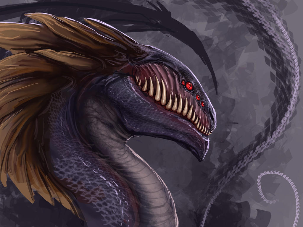 Melvin the dragon by Tapwing