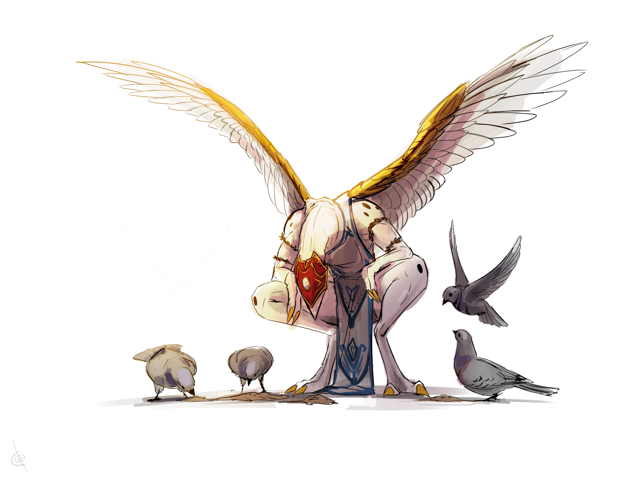 Affinity for birds by Tapwing