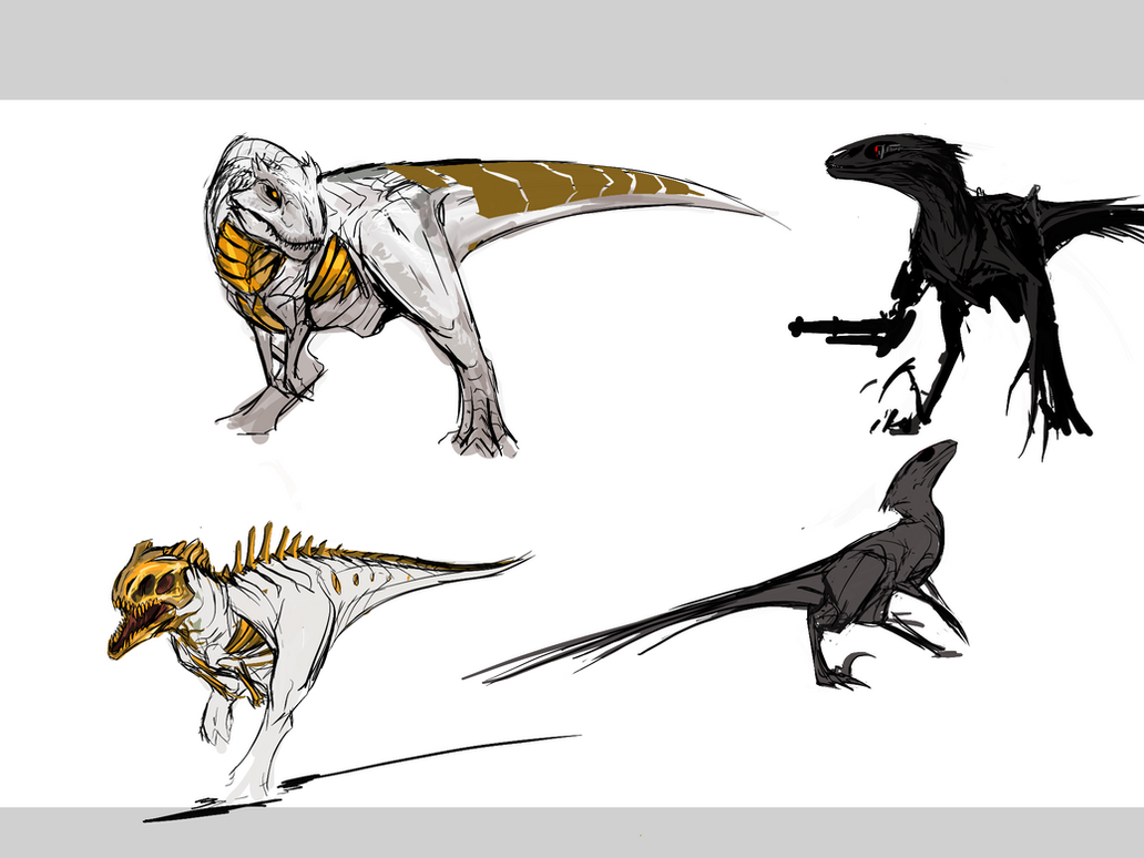 Doodly dinos by Tapwing