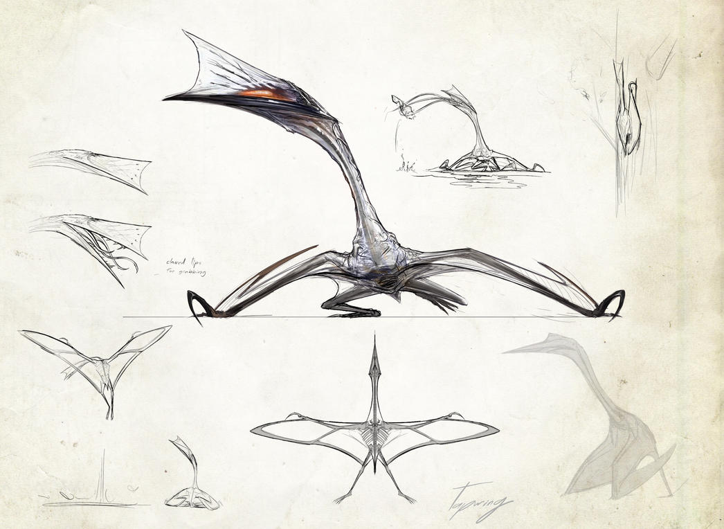 Neurotenic quetzalcoatlus- V glass by Tapwing