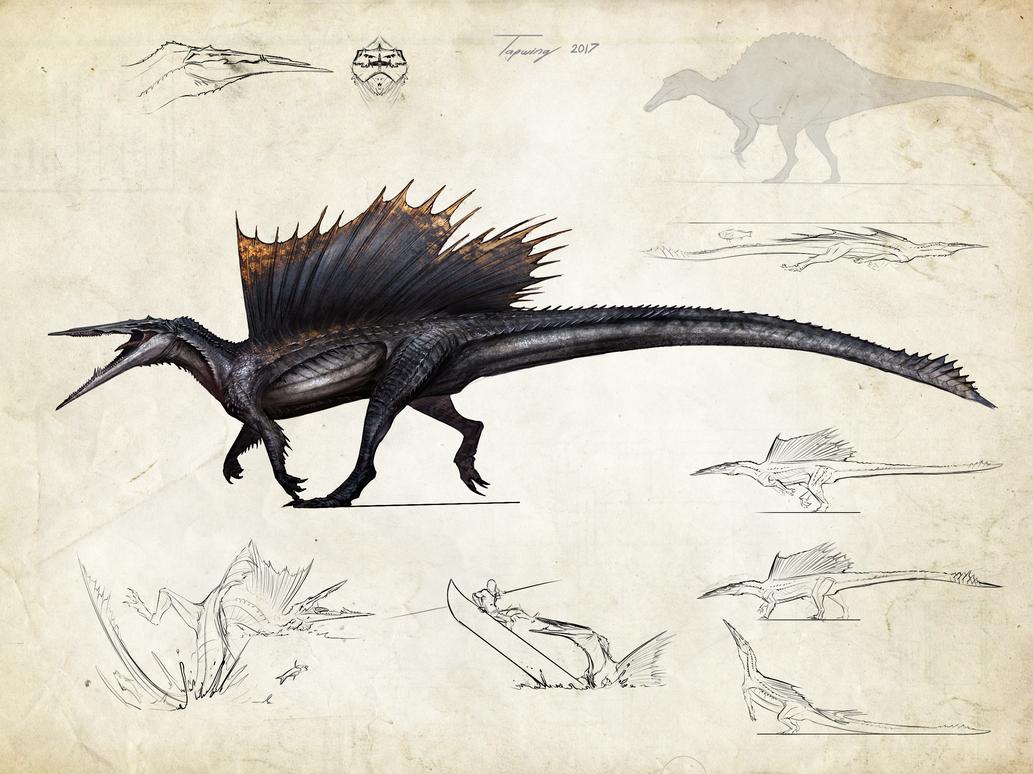 :Tissoplastic spinosaurus: by Tapwing