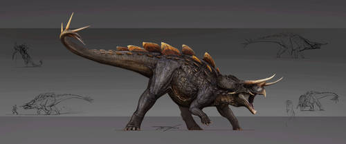 Reimagined Stegoceratops by Tapwing