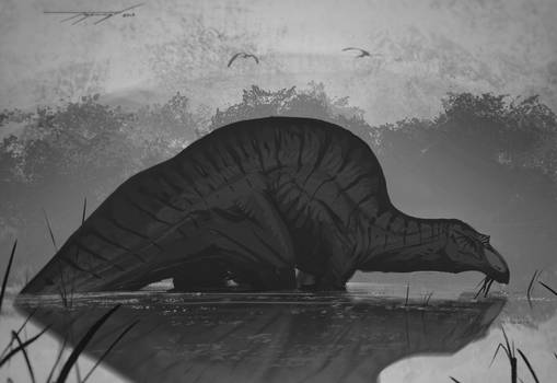 DrawDinovember day 3 Ouranosaurus