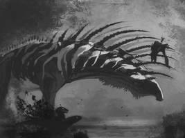 DrawDinovember day 7 Bajadasaurus
