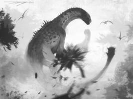 DrawDinovember  Day 18 Shunosaurus