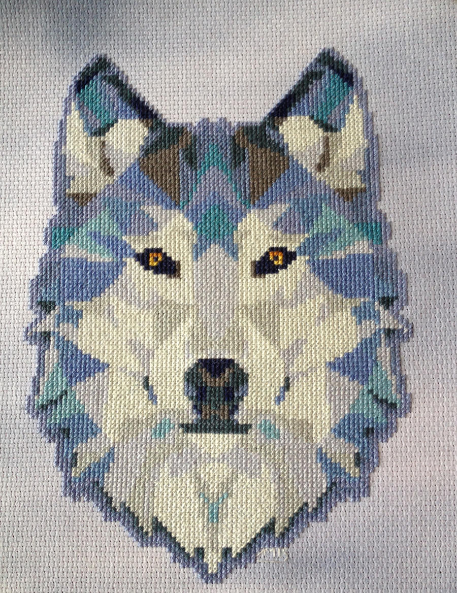 Geometric Wolf By Ammeih On Deviantart