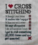 I Love Cross Stitching