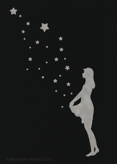Silkscreenprint: Stars by ninakuru