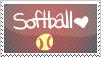 Softball Stamp by Peachypup