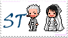 Smoker and  Tashigi Stamp by MellcatNinA