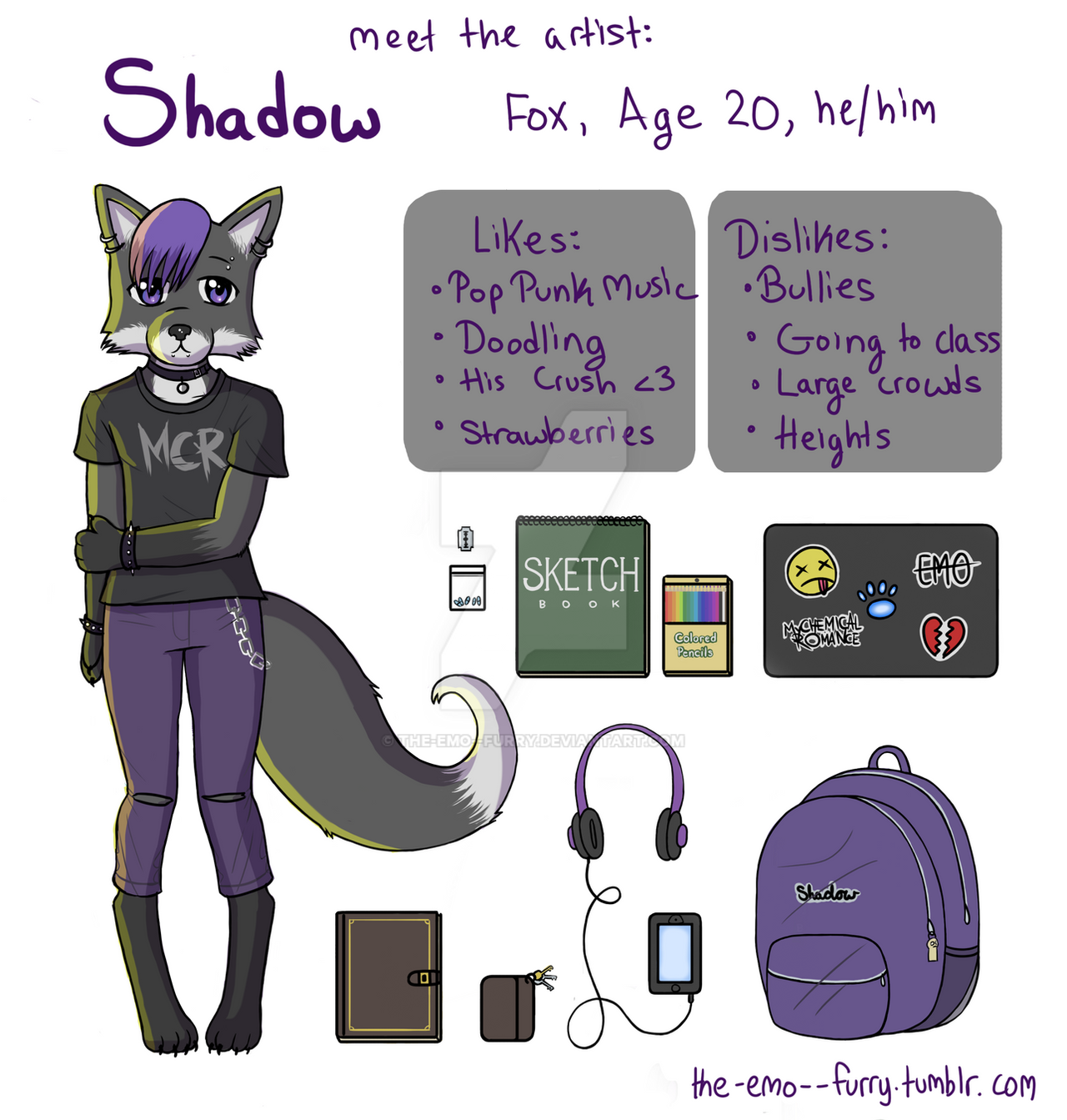 Meet the Artist: Shadow by the-emo--furry on DeviantArt