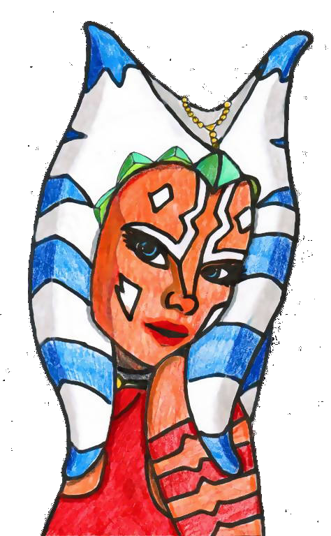 Ahsoka Tano (Coloring Practice) by Chrisily