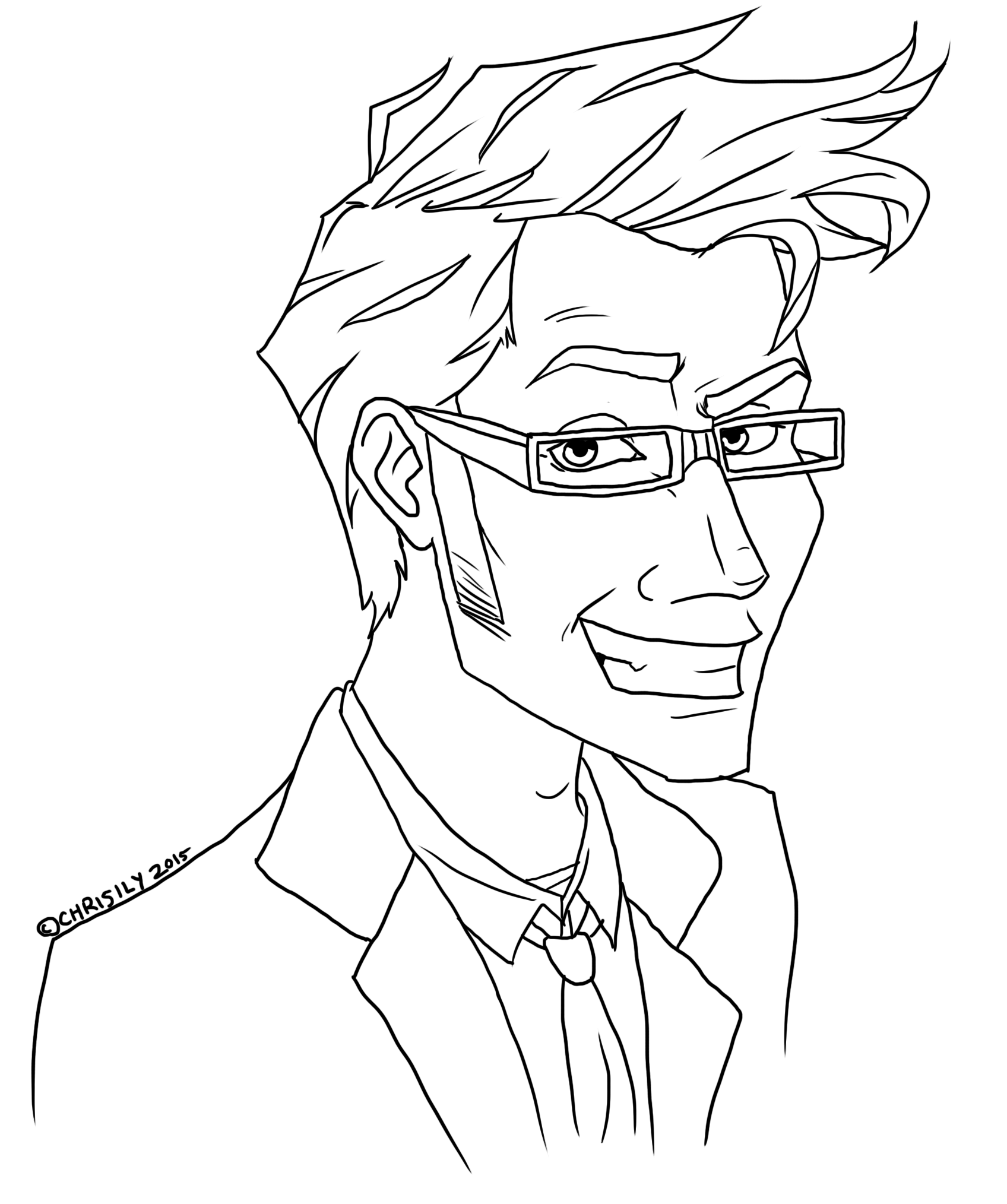 Xfig Line Drawing : Free th doctor lineart by chrisily on deviantart
