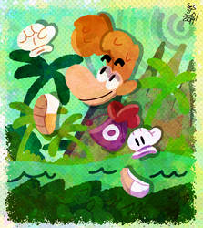 Rayman In Gibberish Jungle by selom13