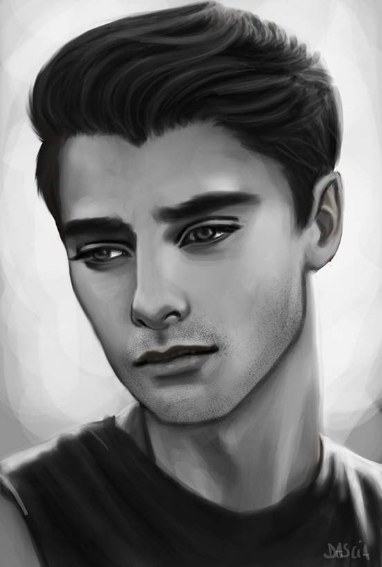 Male Portrait - Sketch by Manuzan on DeviantArt